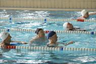 foto de personas mayores haciendo ejercicio dentro de una piscina