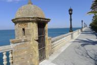 Vista de un puesto de vigilancia del Paseo Carlos III