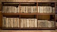 """""""Pedrero"""" o mueble para almacenar piedras litográficas"""