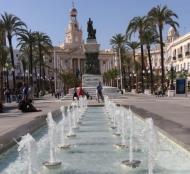 foto de las nuevas fuentes de la plaza San Juan de Dios